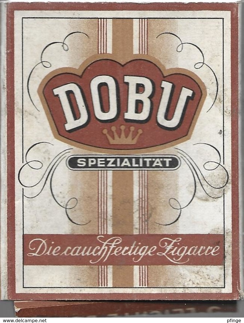 Ancien Paquet Vide En Carton De 5 Cigares Dobu - Contenitore Di Sigari