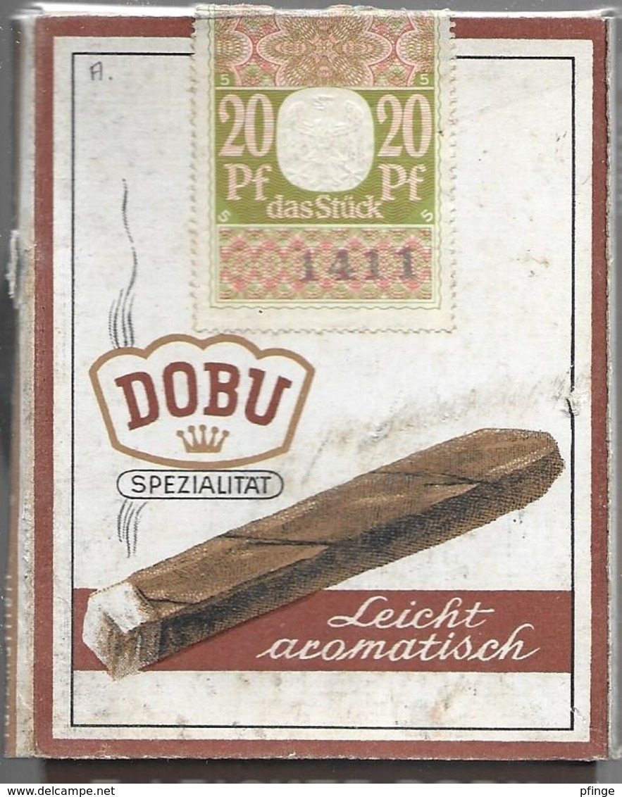 Ancien Paquet Vide En Carton De 5 Cigares Dobu - Zigarrenetuis