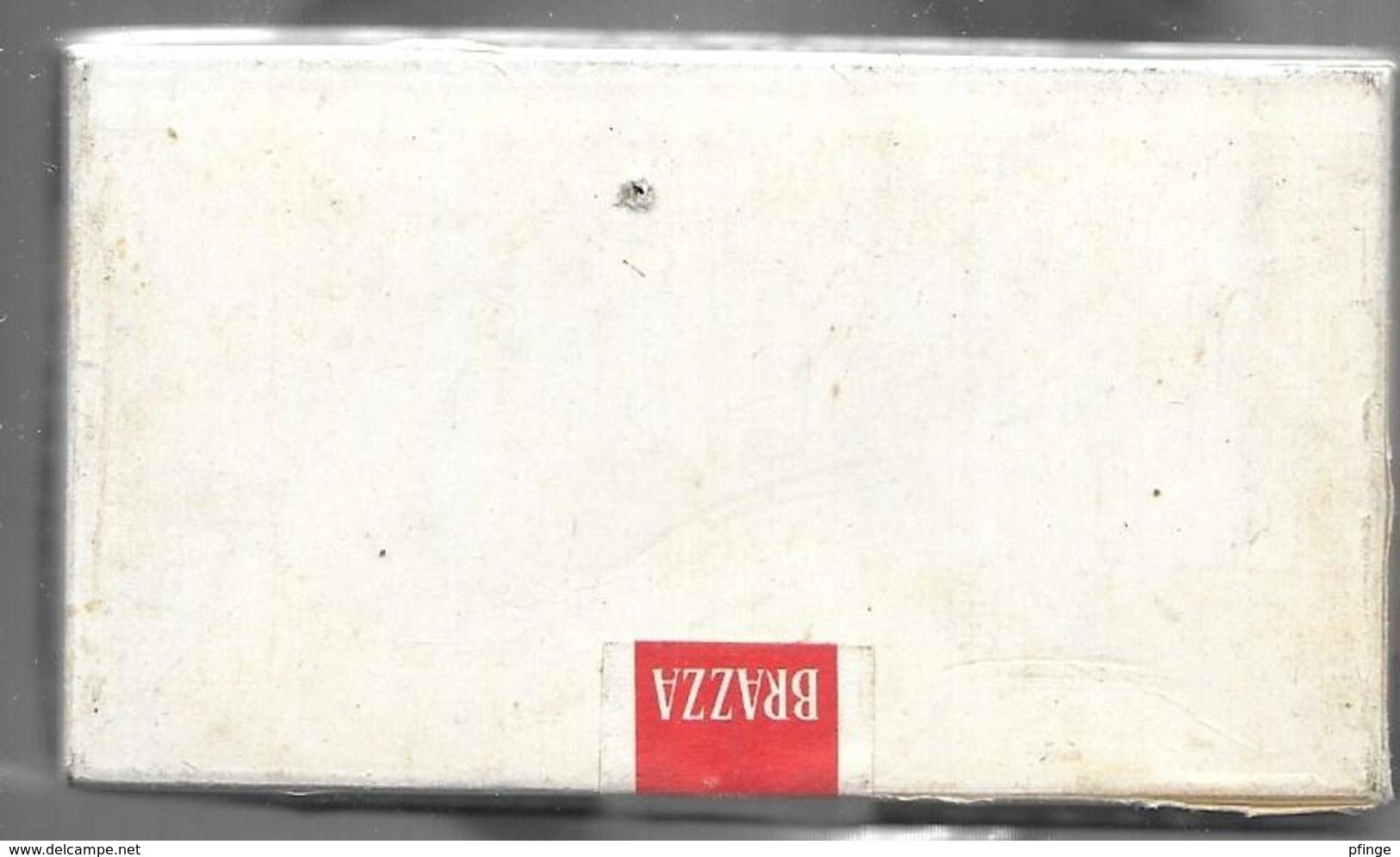 Ancien Paquet Vide En Carton De 10 Petits Cigares Brazza - Contenitore Di Sigari