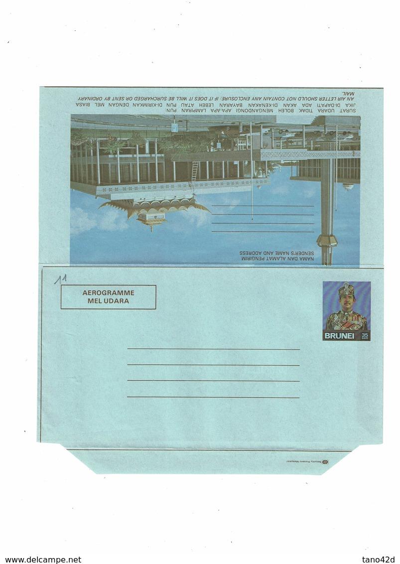 DIV1 -  BRUNEI 4 AEROGRAMMES NEUFS - Brunei (1984-...)