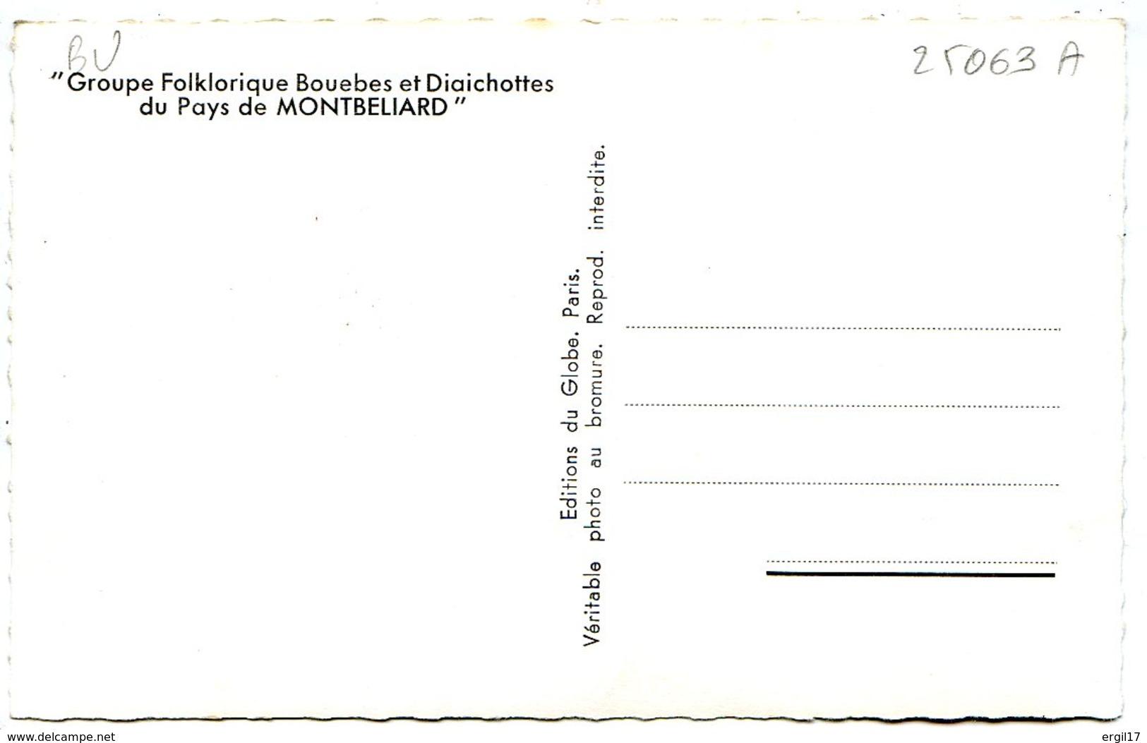 25200 MONTBÉLIARD - Folklore Bouebe Et Diachottes - Lot De 3 CPSM 9x14 - Voir Détails Dans La Description - Montbéliard