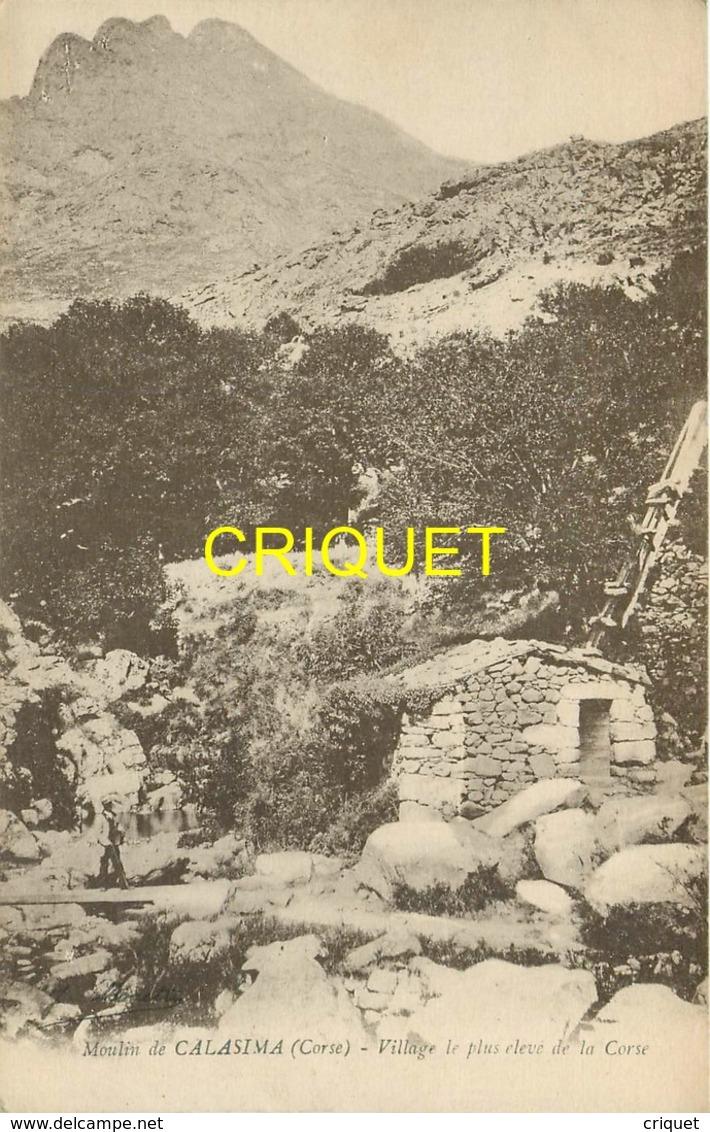 Corse, Moulin De Calasima, Homme Sur La Passerelle...., éd Moretti - Autres Communes