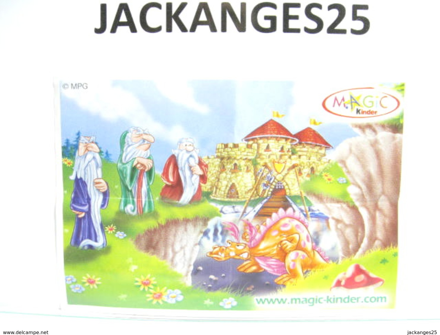 KINDER DRAGON  DRUIDE  MPG C 49   2004  + BPZ EU + MAGIC CODE - Montables