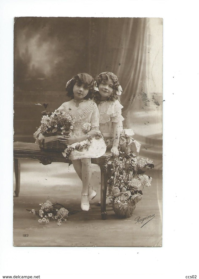 Fillettes 1913 - Groupes D'enfants & Familles