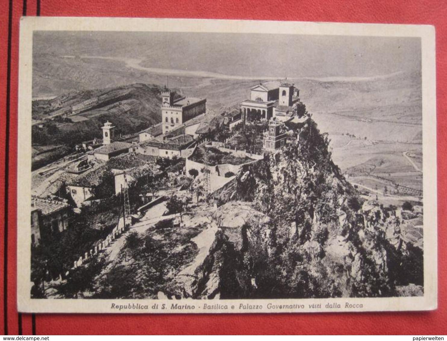San Marino - Basilica E Palazzo Governativo Vista Dalla Rocca - San Marino