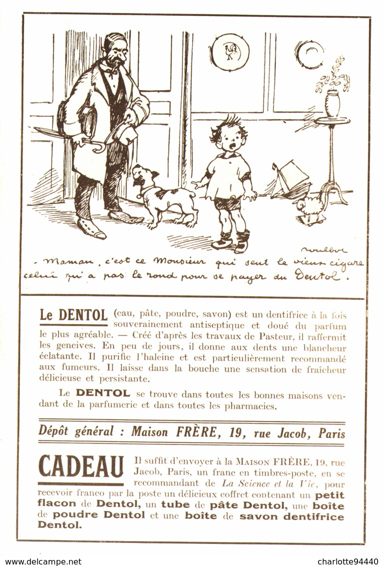 """PUB """" DENTOL """" Par POULBOT   1923 ( 14 ) - Other"""