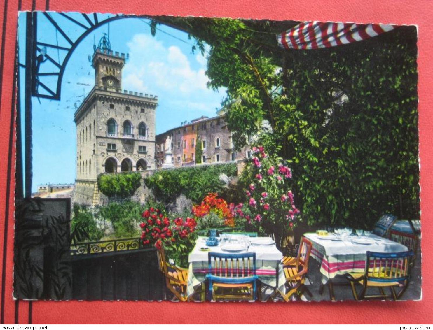 San Marino - Palazzo Del Governo Dalla Terrazza Del Ristorante Titano - San Marino