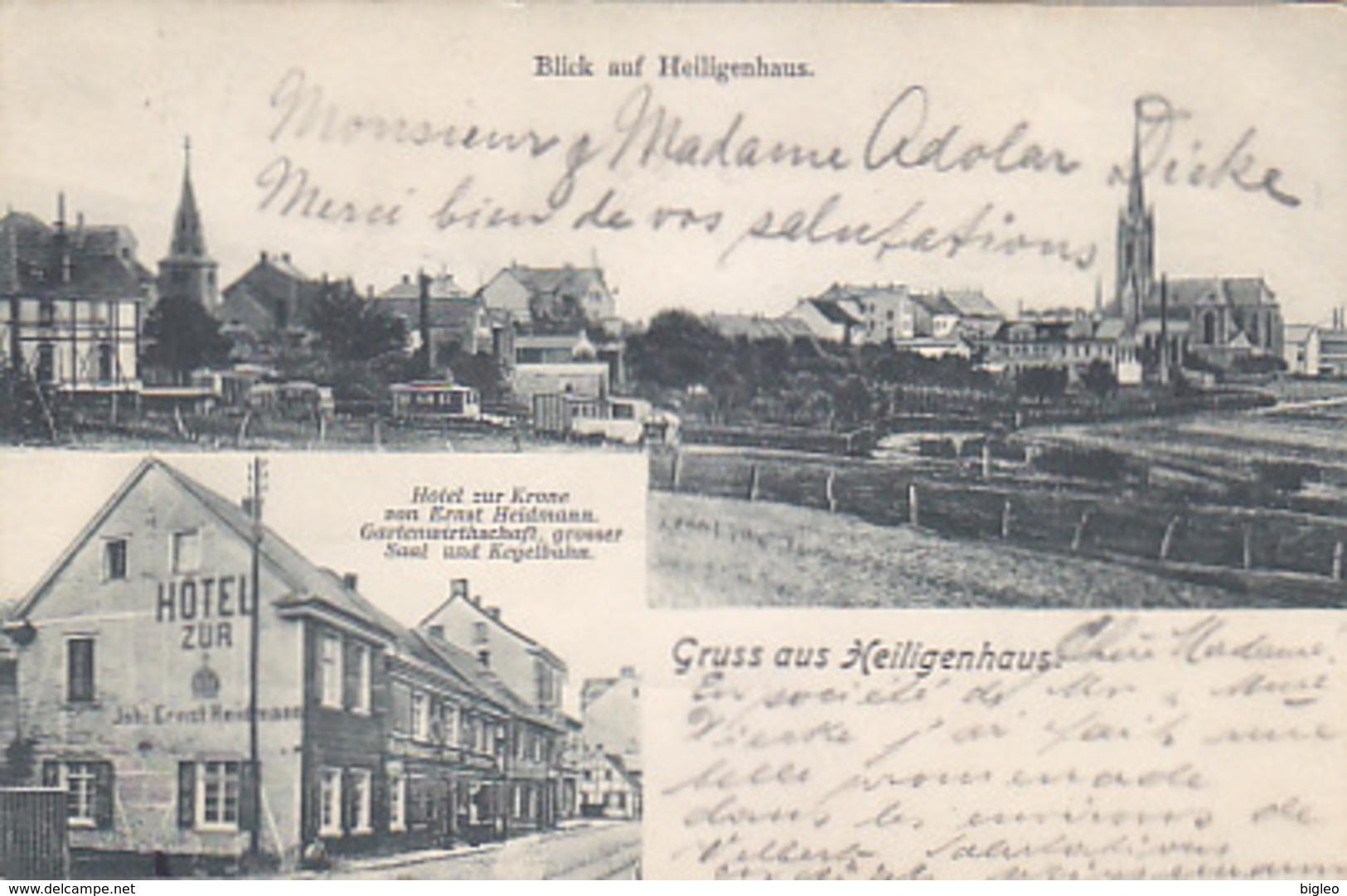 Gruss Aus Heiligenhaus - Hotel Zur Krone - 1909      (A-73-170712) - Germania