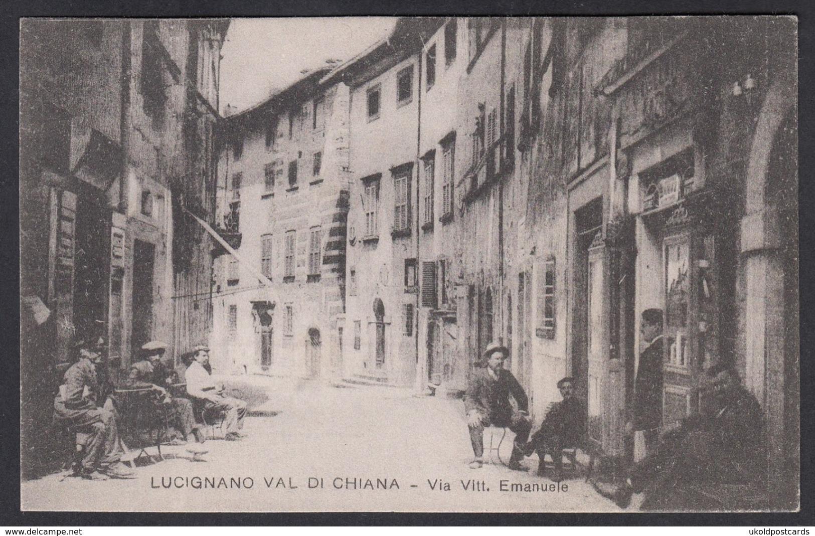 Italia  -  LUCIGNANO VAL DI CHIANA, Via Vitt Emanuele - Italia