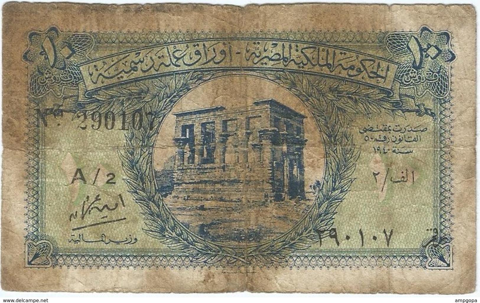 Egipto - Egypt 10 Piastres 1940 Pk 167 B Serie Fraccional Ref 18 - Egipto