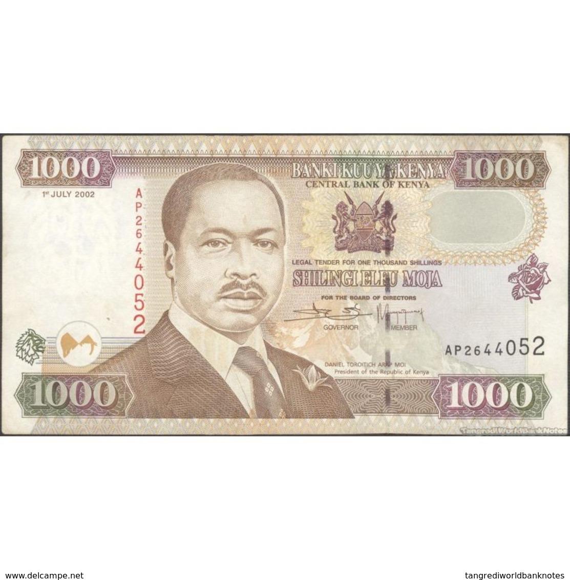 TWN - KENYA 40e - 1000 1.000 Shillings 1.7.2002 AP 2644052 VF+ - Kenya