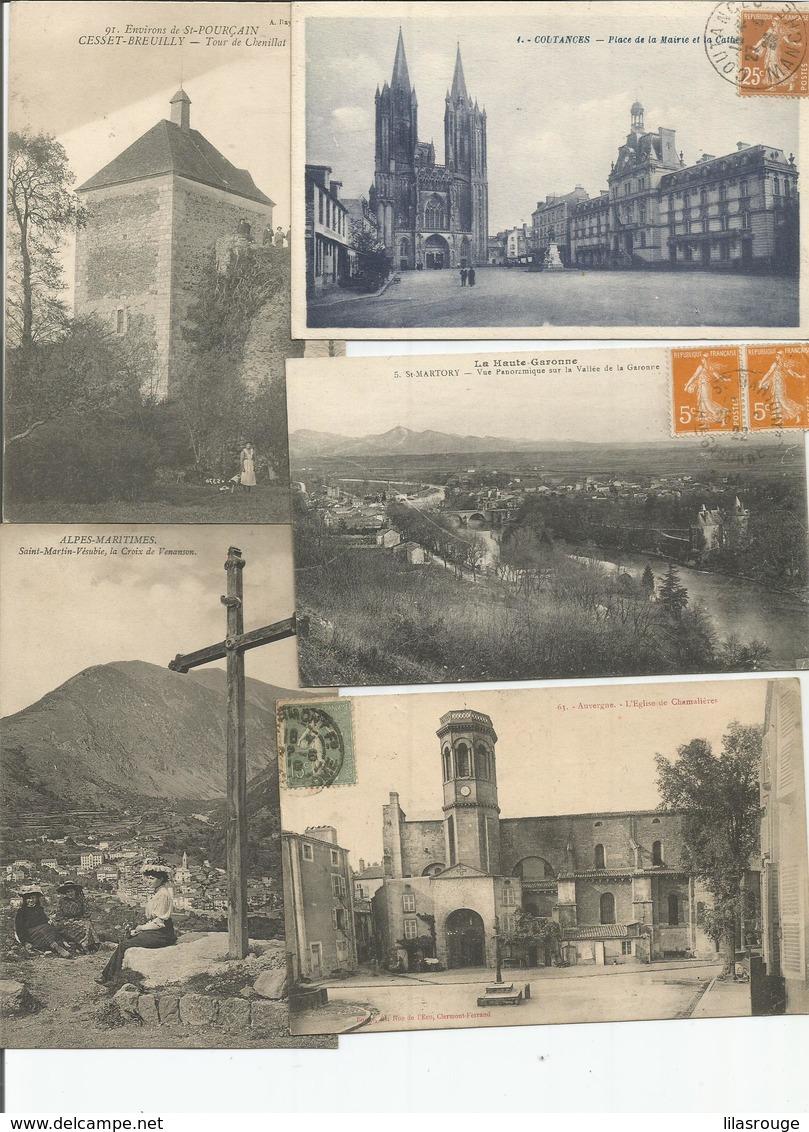 LOT   35 Cartes  CPA - 5 - 99 Postcards