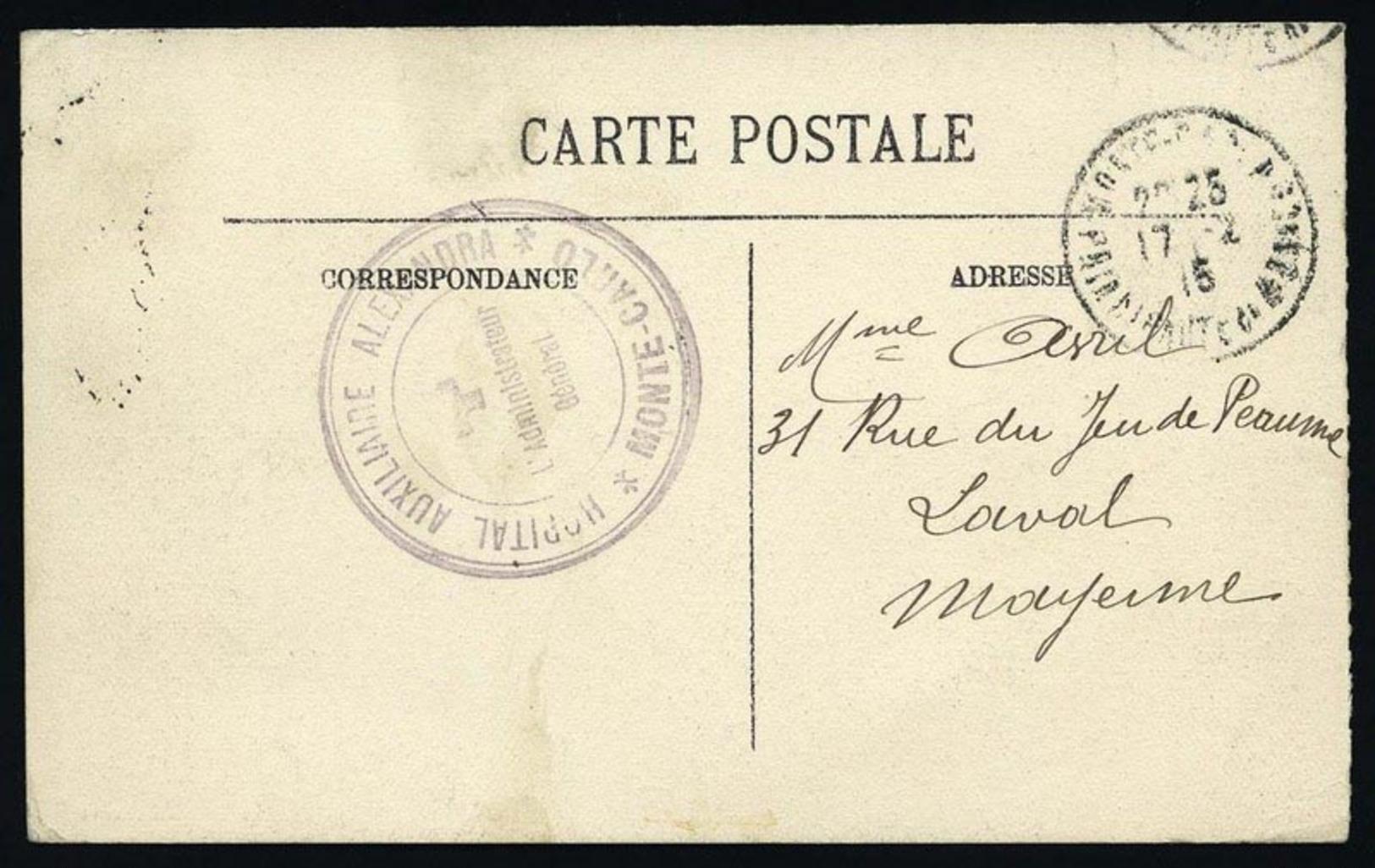 O + FRANCE. 2 Cartes Postales Avec Franchise Militaire. TB.(cote : 0) - Monaco