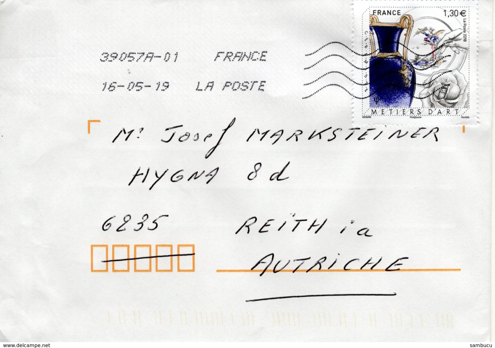 Auslands - Brief Von 39057A Mit  130 Cent Metiers D'art 2019 - 2018-... Marianne L'Engagée