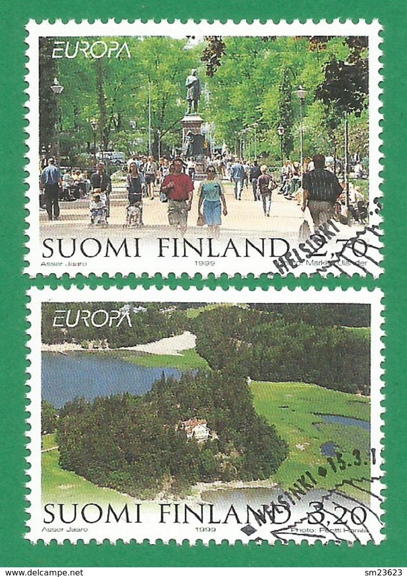 Suomi Finnland  1999  Mi.Nr. 1474 / 1475 , EUROPA CEPT - Natur- Und Nationalparks - Gestempelt / Fine Used / (o) - 1999
