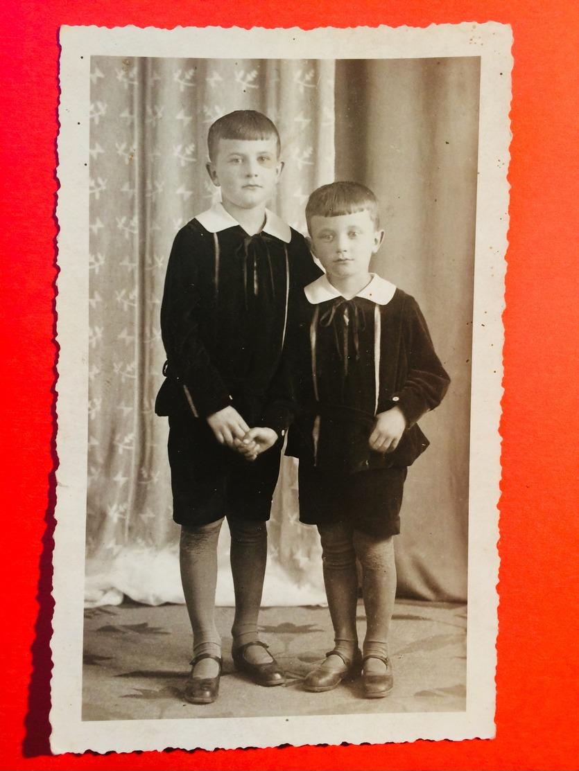 Foto Antik AK Größe Ansichtskarte Jungen Pimpfe Portraits Mode Fashion Old Picture - Anonyme Personen