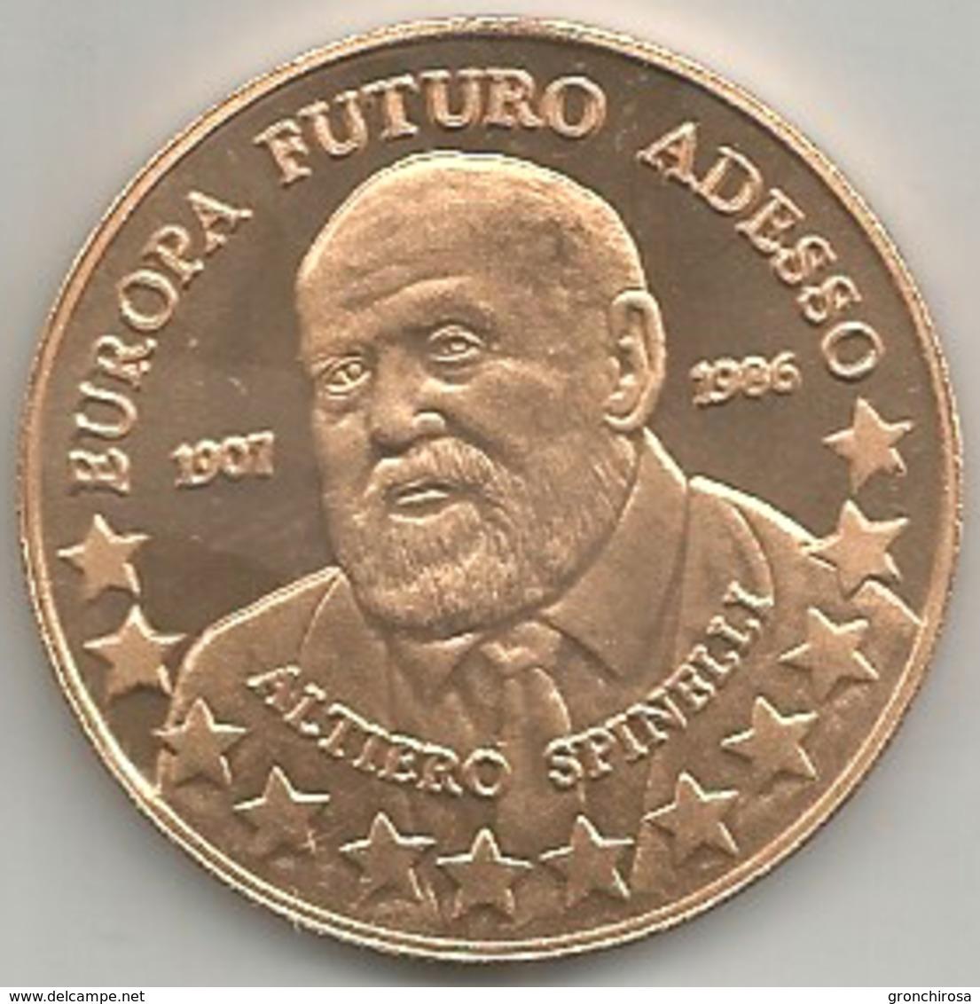 Reggio Emilia 2001, Festa Nazionale De L'Unità, Altiero Spinelli, Ae. FS. Gr. 15, Cm. 3,4. - Altri