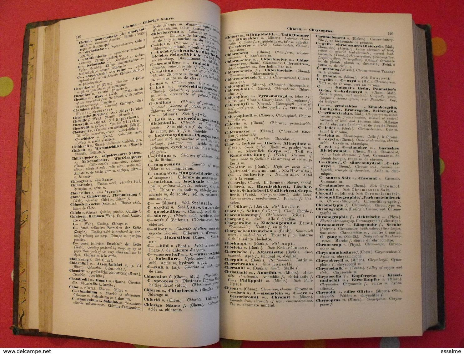 Technologisches Wörterbuch. Deutch-English-Französisch. Hoyer, Kreuter. Wiesbaden 1902 - Dictionnaires