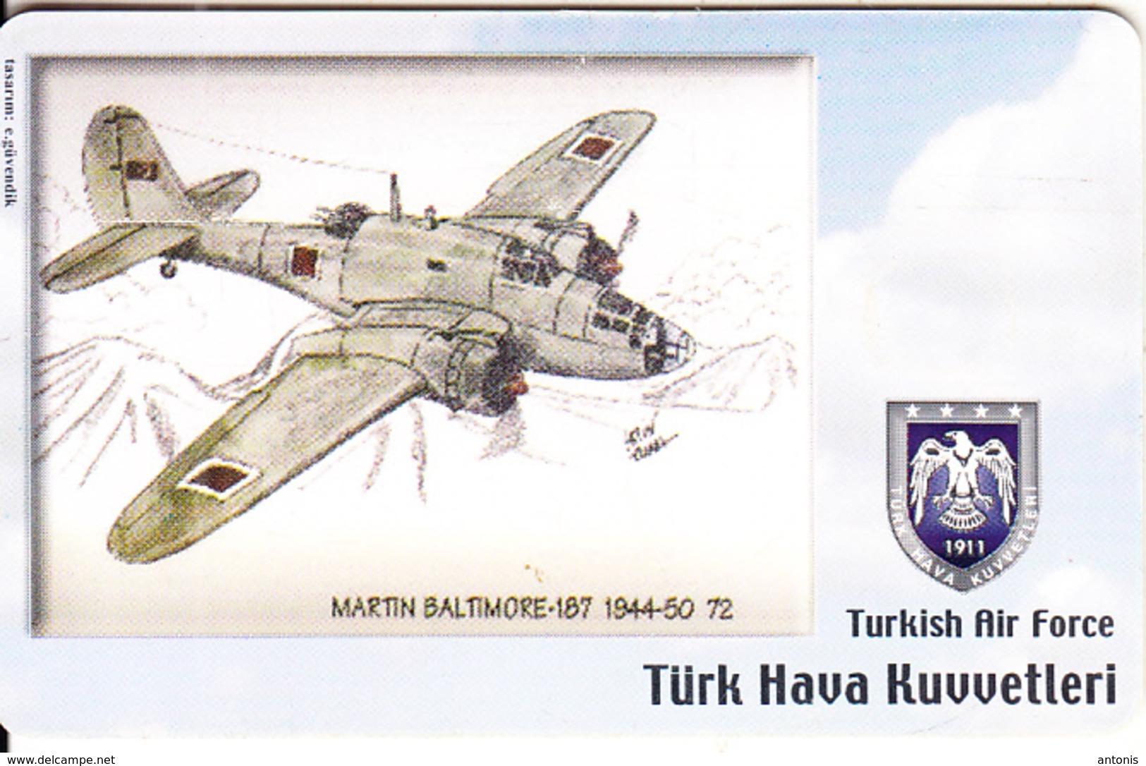 TURKEY(chip) - Airplane, Martin Baltimore-187 1944-50 72(50 Units), Used - Avions