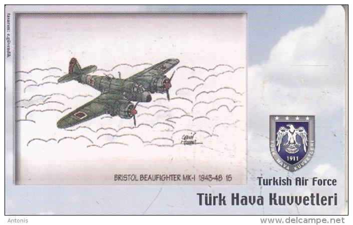 TURKEY(chip) - Airplane, Bristol Beaufighter MK-1 1943-48 15(50 Units), Used - Airplanes