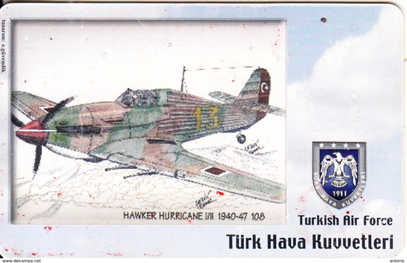 TURKEY(chip) - Airplane, Hawker Hurricane I/II 1940-47 108(50 Units), Used - Avions