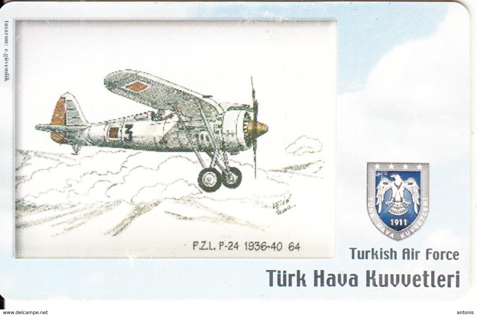 TURKEY(chip) - Airplane, PZL P-24 1936-40 64(100 Units), Used - Avions