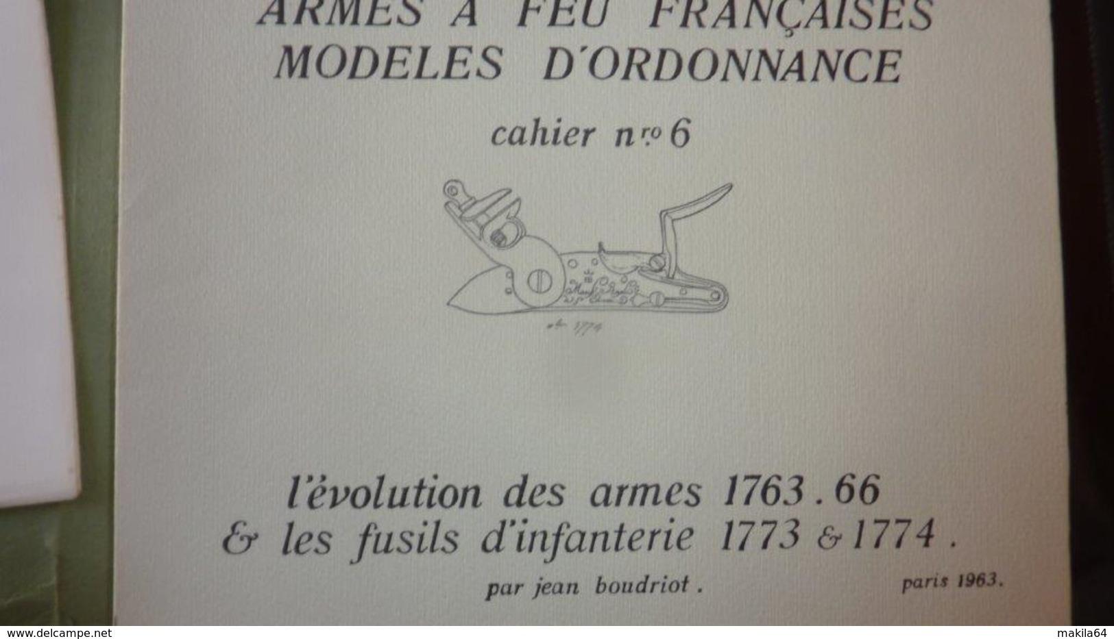 Cahiers 1, 2,3,4,6,7,8,9,10   Jean Boudriot - Armes Neutralisées