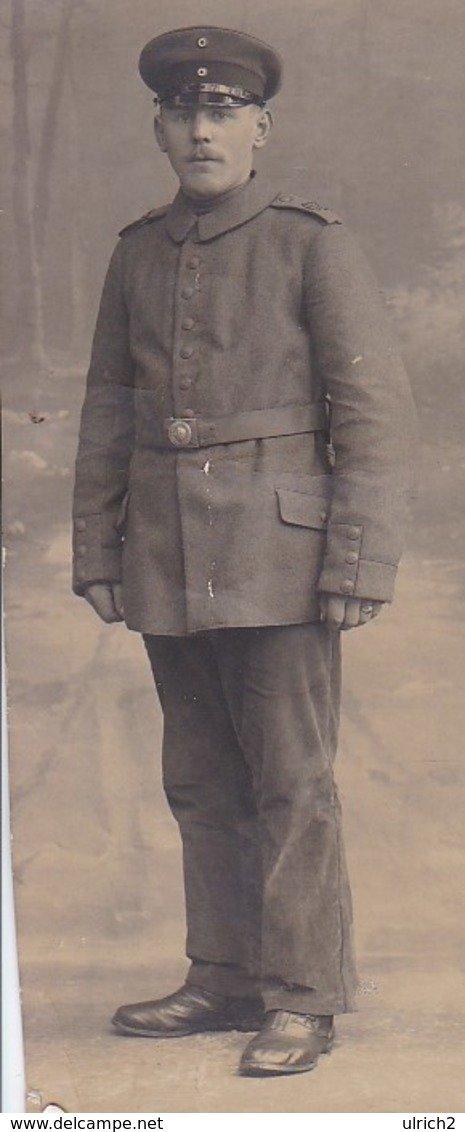 AK Foto Deutscher Soldat - 1. WK - 12*5cm (41228) - Krieg, Militär