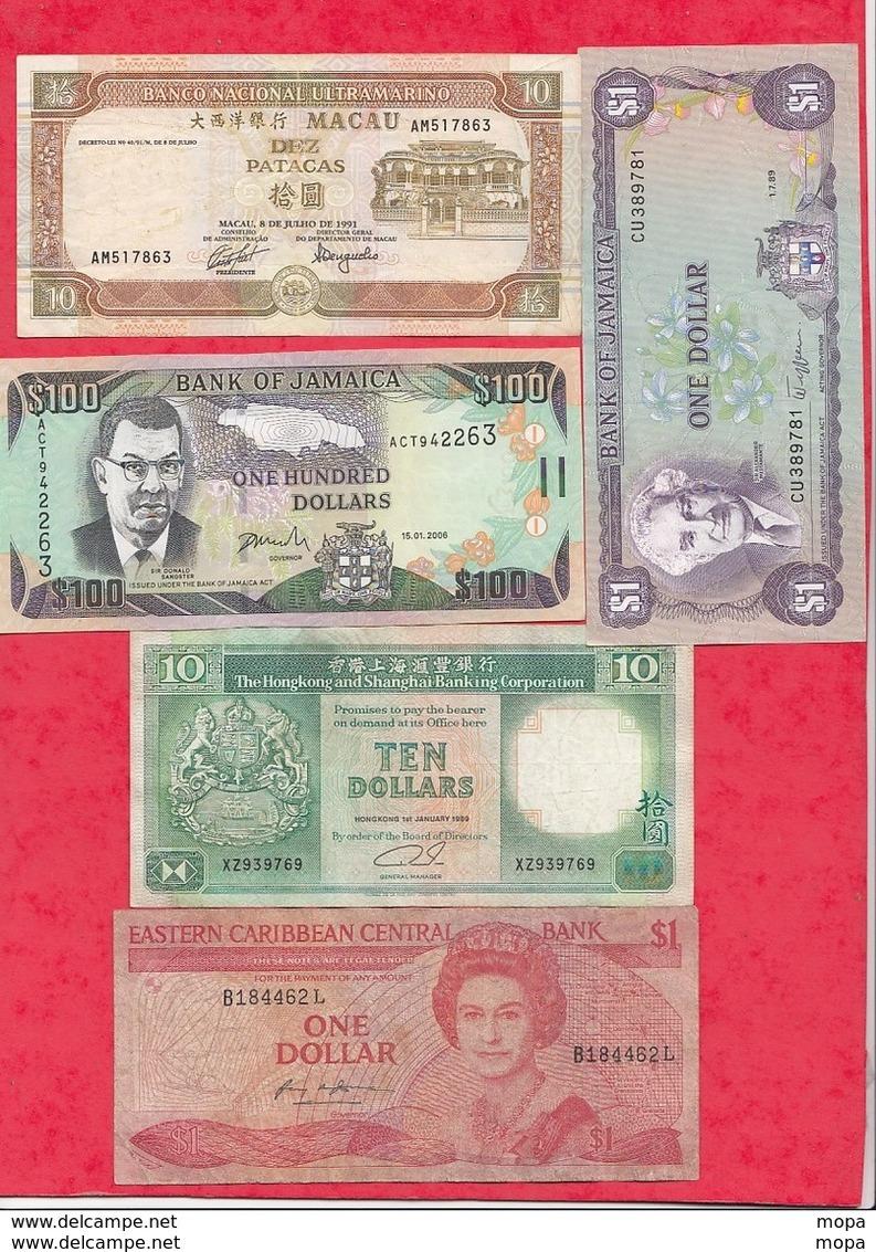Iles Du Monde 13 Billets 10 Dans L 'état Et 3 état Moyen Lot N °4 - Non Classés