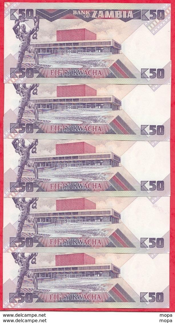 Zambie 13 Billets 8 Dans L' état Et 5 En UNC (SUITE DE 5 BILLETS DE 50 KWACHA 1986 PETIT PRIX DE DEPART) - Zambie