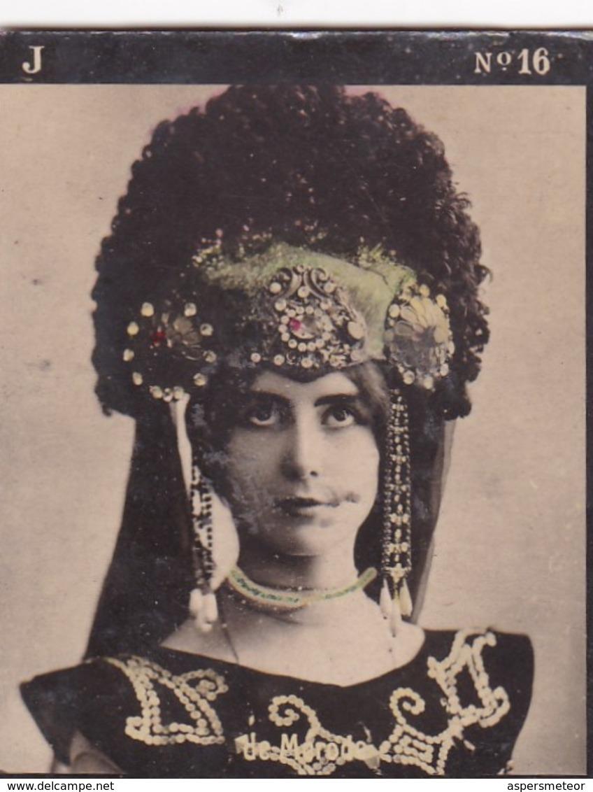 CLEO DE MERODE. COLORISE. CARD TARJETA COLECCIONABLE TABACO. CIRCA 1915 SIZE 4.5x5.5cm - BLEUP - Célébrités