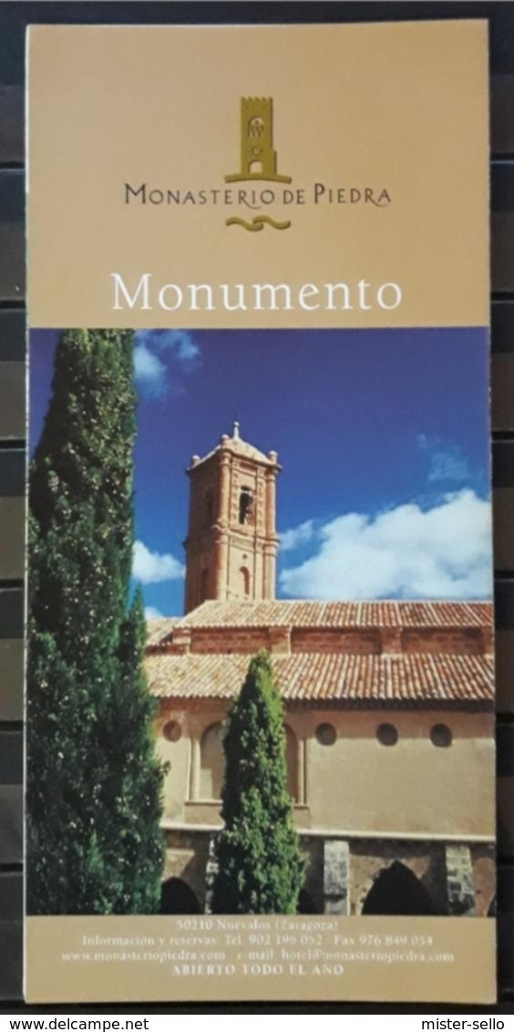 FOLLETO TURISTICO MONASTERIO DE PIEDRA. ZARAGOZA - ESPAÑA. - Folletos Turísticos