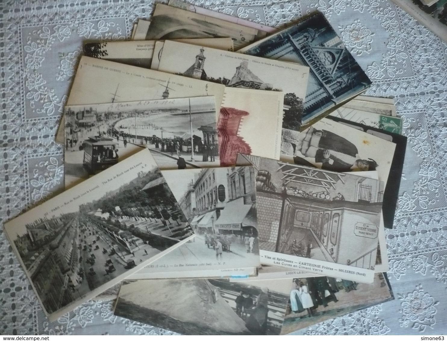 Lot   De  60 Cartes  Type  Cpa  - France - Diverses - Différentes   Lot  No 2 - - Cartes Postales