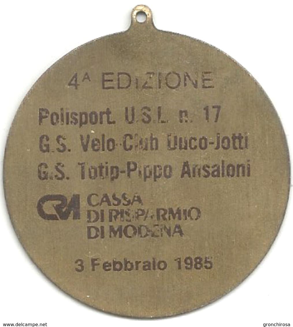 Sassuolo 1985, Ciclismo, 4a Edizione La Sassuolissima, Ae. Dorato, Gr. 7, Cm. 4,4. - Altri