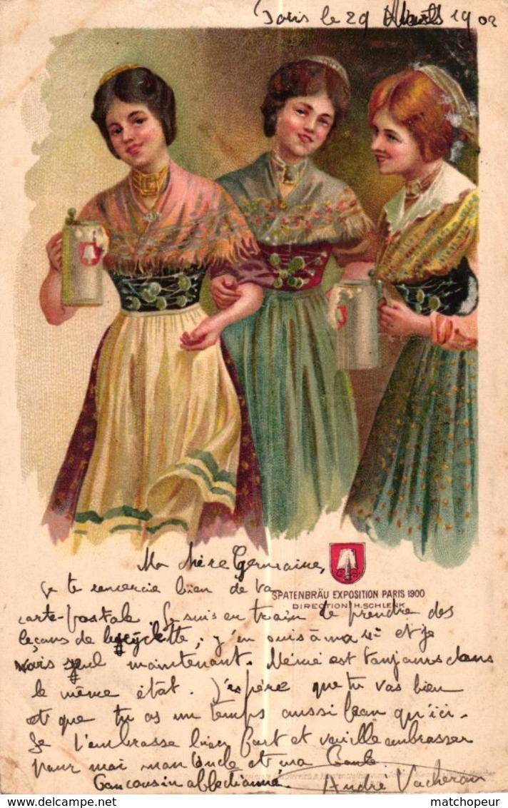 CPA PUBLICITE - SPATENBRAU EXPOSITION PARIS 1900 - - Publicité