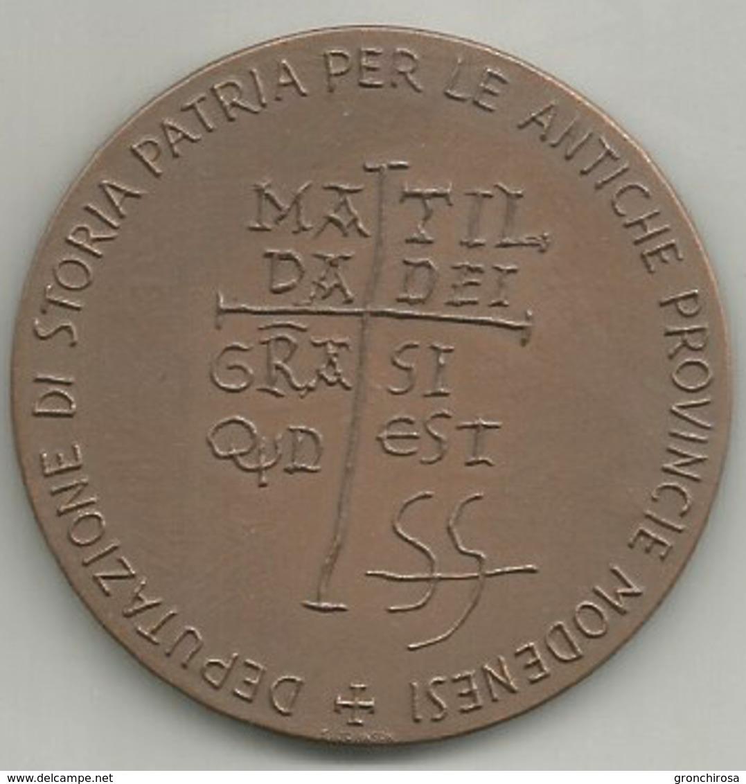 Matilde Di Canossa 1970 II° Convegno Di Studi, Deputazione Storia Patria Antiche Provincie Modenesi, Ae. Gr. 29, Cm. 4,5 - Altri