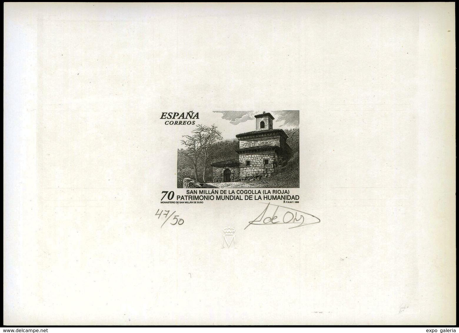 Ed. * 3663 - Patrimonio Mundial Humanidad. Prueba Artista. Tirada 50 Ejemplares, Numerada Y Firmada Por El Grabador - 1951-60 Lettres