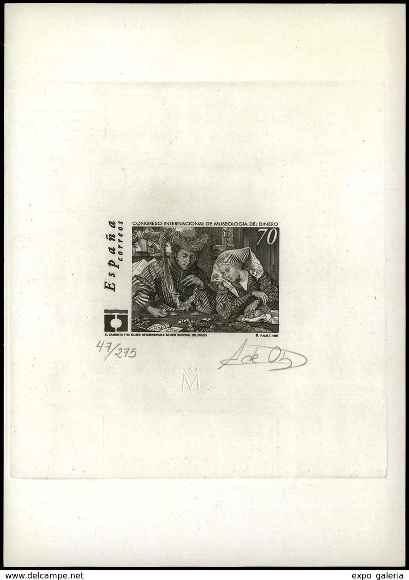 Ed. * 3678 - Congreso Internacional Museologia Del Dinero. Prueba Artista. Tirada 275 Ejemplares, Numerada Y Firmada - 1951-60 Lettres