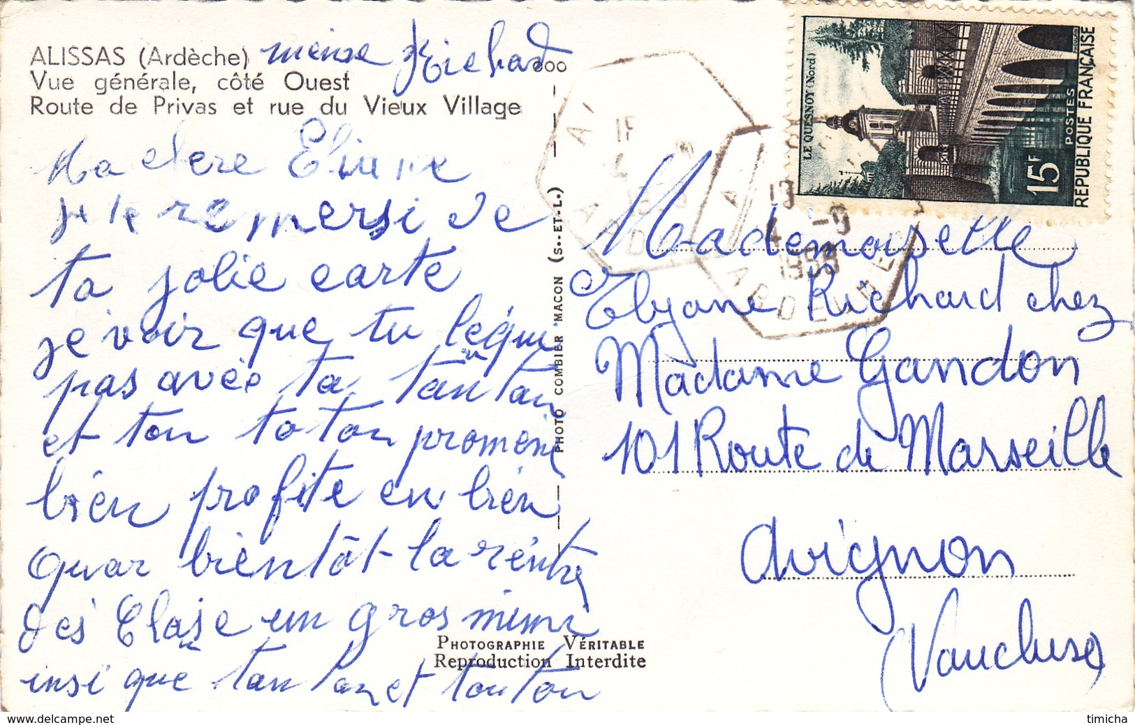 (43)   ALISSAS - Côté Ouest - France