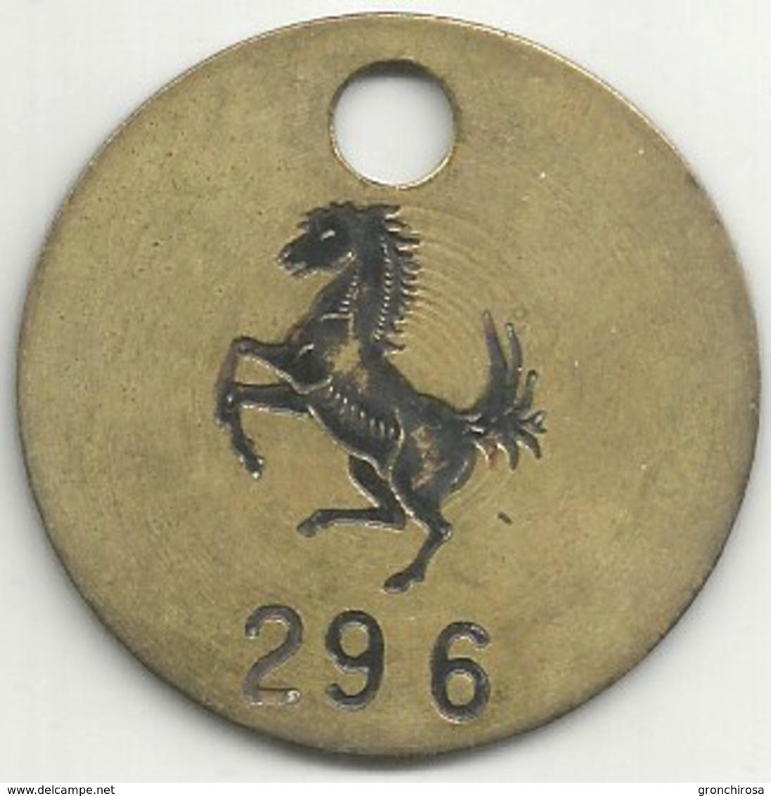 Ferrari Auto, Vecchio Gettone (passi Visitatore Box Corse O Officina ?), Ae. Gr. 15, Cm. 4. - Altri