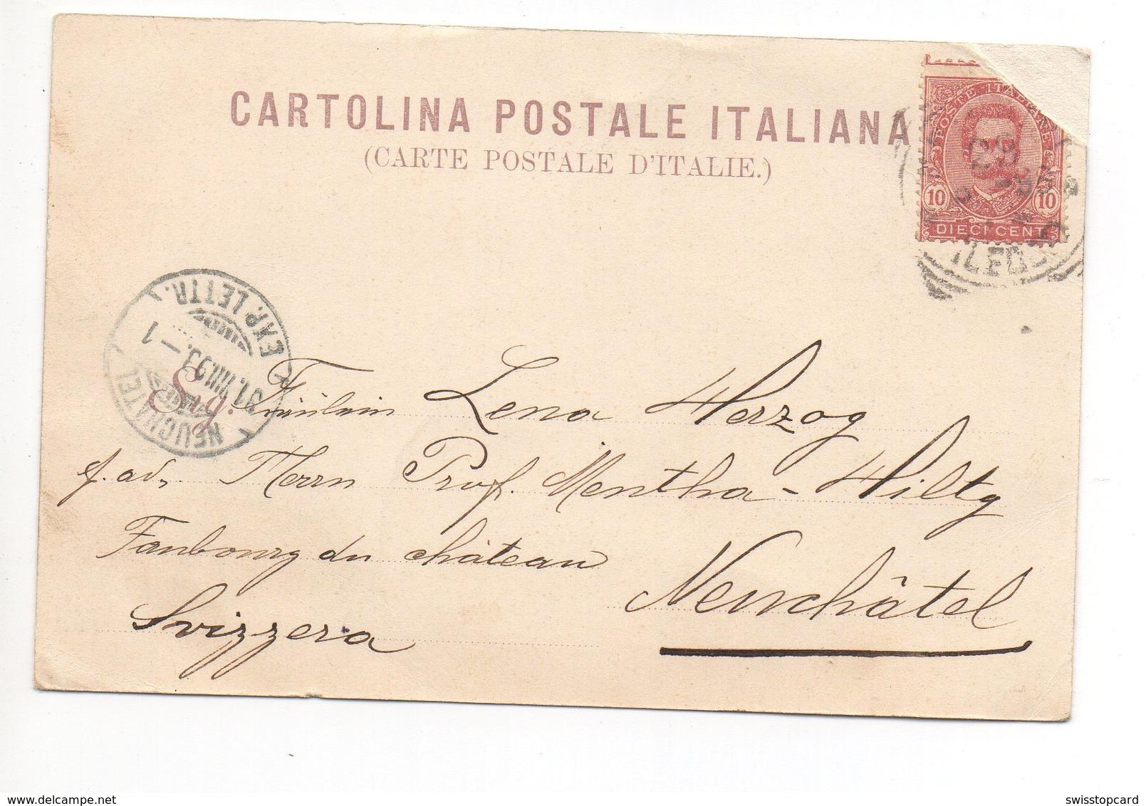 Greetings From BRINDISI La Marina Gel. 1898 N. Neuchâtel - Brindisi