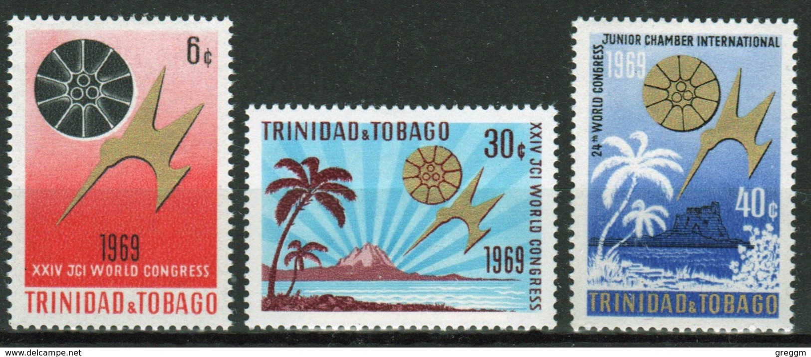 Trinidad And Tobago 1969 Set Of Stamps To Celebrate The Junior Chamber Of Commerce. - Trinidad & Tobago (1962-...)
