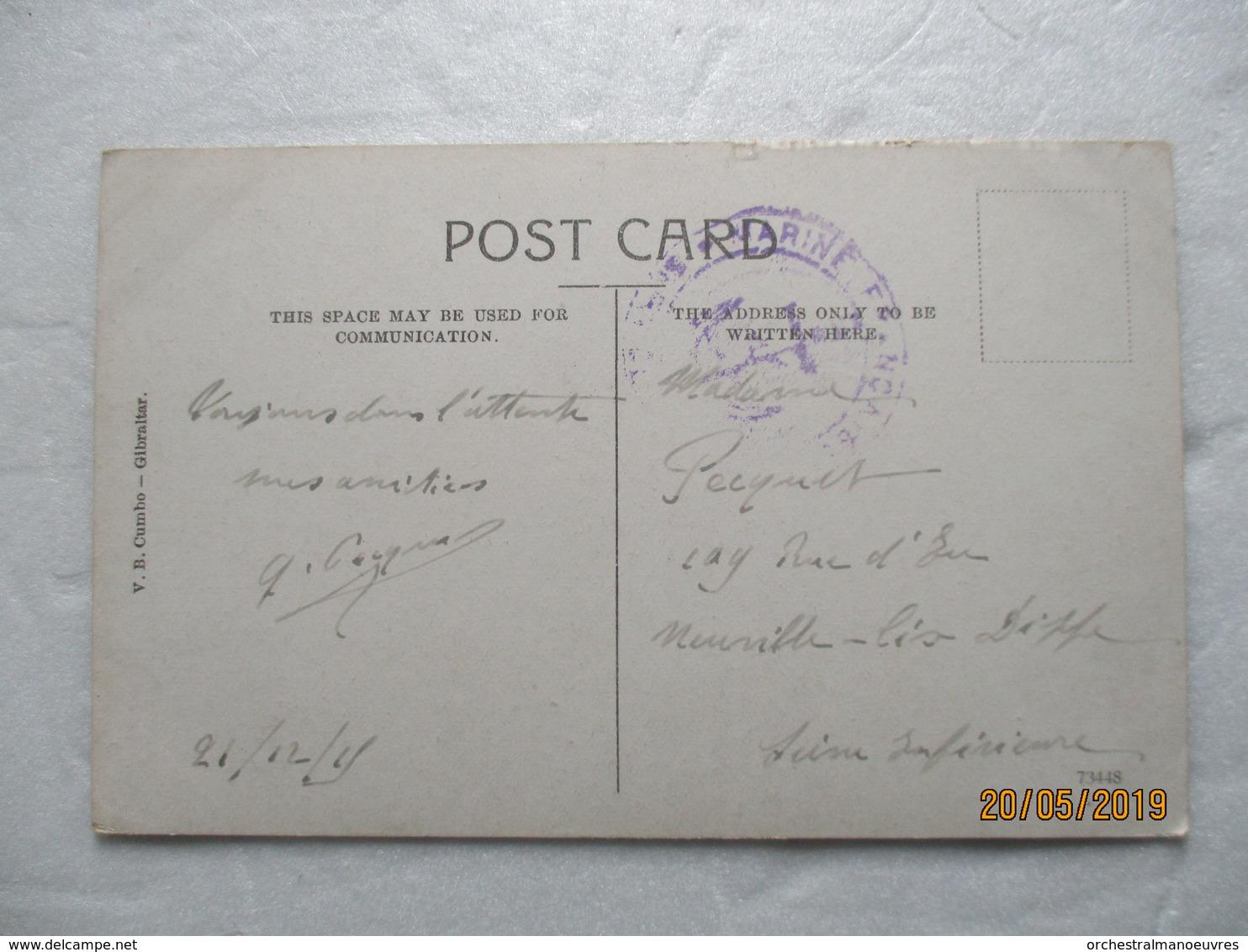 CPA POSTCARD 1915 GIBRALTAR THE MARKET Le Marché GP ANIME Editor VB. CUMBO - Gibraltar