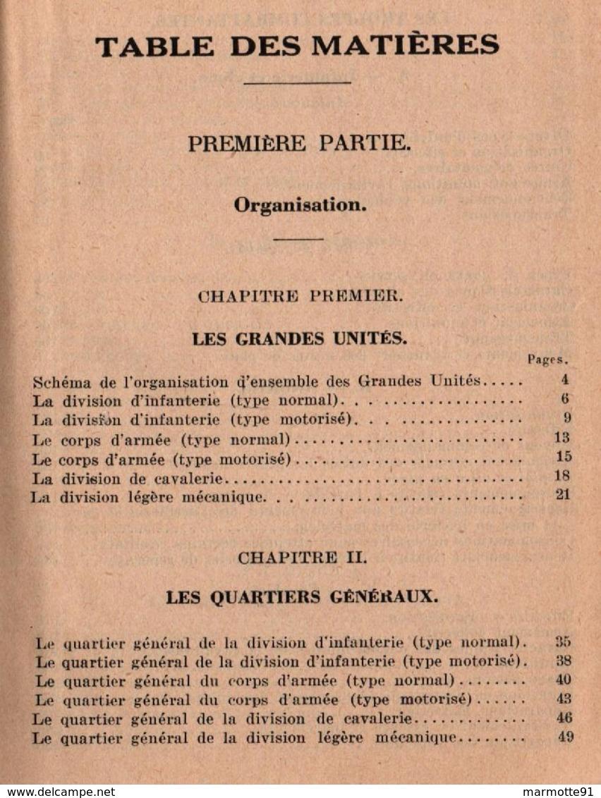 AIDE MEMOIRE POUR TRAVAUX D ETAT MAJOR 1938 - Livres