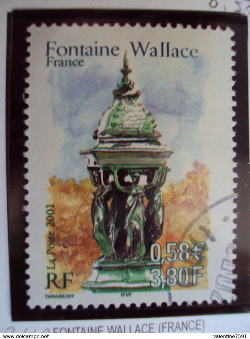 """2000-2009   Timbre  Oblitéré N°   3442   """" Fontaine Wallace    """"   0.50 - France"""