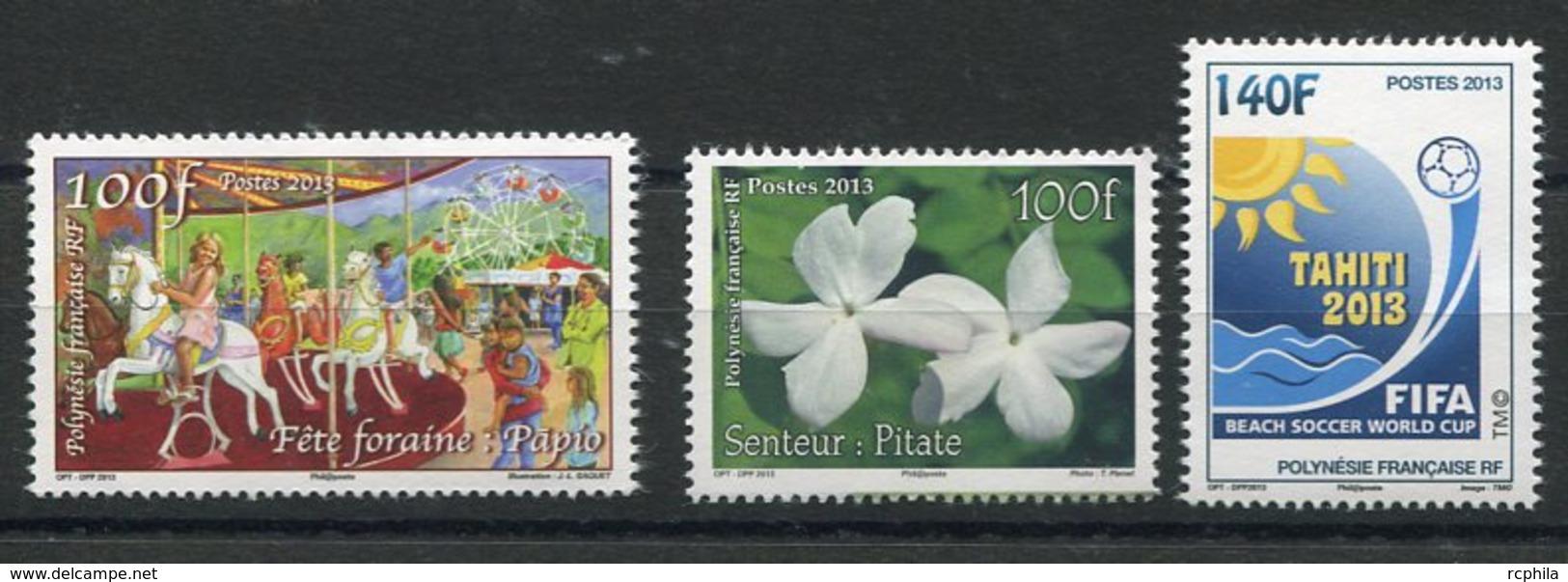 RC 12726 POLYNÉSIE N° 1033 / 1034 + 1041 TIMBRES ÉMIS EN 2013 NEUF ** - Neufs