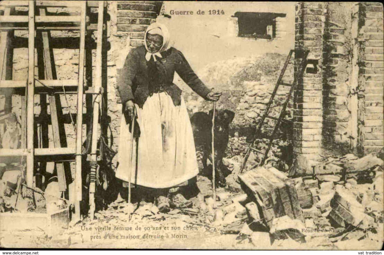 FRANCE - Carte Postale - Guerre De 14/18 , Vieille Femme De 90 Ans Et Son Chien à Morin  - L 29930 - Guerre 1914-18