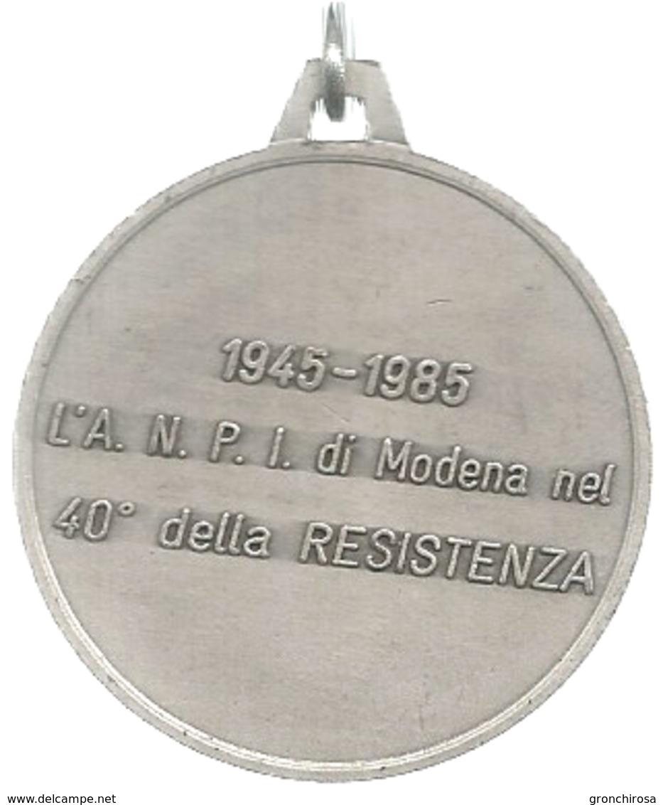 Modena, 1985, ANPI, Quarantesimo Della Resistenza, Autore N. Beghelli, Mist. Dorata Gr. 20, Cm. 3,9. - Altri