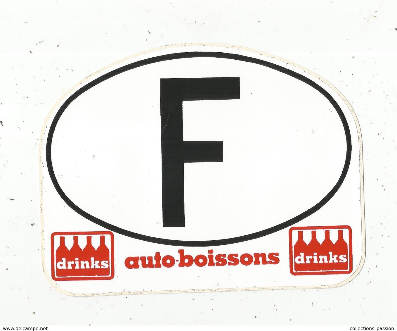 Autocollant ,  Auto-boissons DRINKS ,  F , 175 X 135 Mm , Frais Fr 1.85 E - Autocollants