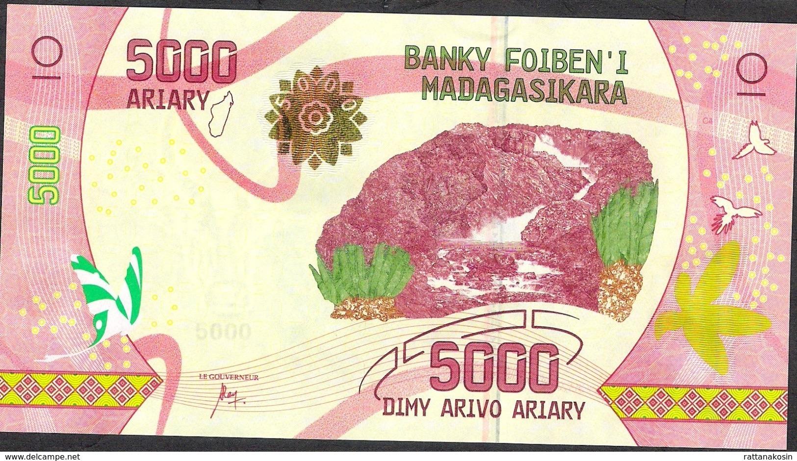 MADAGASCAR P102 5000 ARIARY ( 2017 ) Issued 17.07.2017 UNC. - Madagascar